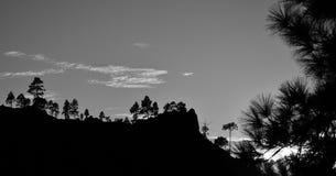 Parque natural de Pilancones no por do sol Foto de Stock