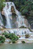 Parque natural de Tad Kuang Si Waterfall laos Ásia Foto de Stock Royalty Free