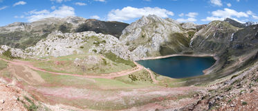 Parque Natural Somiedo_15, Asturias. One of the asturian natural parks with a lot of mountains and lakes, panoramic view Stock Photography