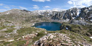 Parque Natural Somiedo. One of the asturian natural parks with a lot of mountains and lakes, panoramic view Royalty Free Stock Images