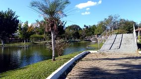 Parque Nelson Lorena ecológico, Brasil São Paulo Foto de Stock Royalty Free