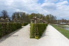 Parque no Eremitage, palácio velho em Bayreuth, Alemanha, 2015 Foto de Stock Royalty Free