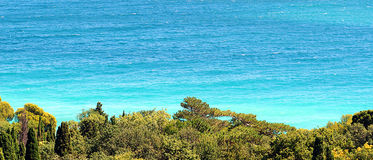 Parque no mar Fotografia de Stock