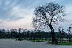 Parque no palácio de Charlottenburg Foto de Stock Royalty Free