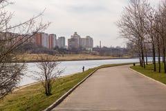 Parque nomeado após aniversário de Moscou o 850th imagem de stock