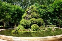 Parque obscuro verde em TB0 0N Europa do Sul foto de stock