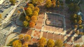 Parque olímpico aéreo de Atlanta almacen de metraje de vídeo