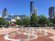 Parque olímpico centenario, Atlanta, GA Foto de archivo libre de regalías