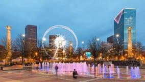 Parque olímpico centenario en Atlanta foto de archivo