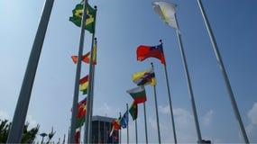Parque olímpico com símbolos em Seoul Imagem de Stock Royalty Free