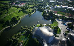 Parque olímpico de Munich Fotografía de archivo
