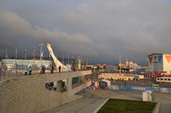 Parque olímpico en Sochi Foto de archivo