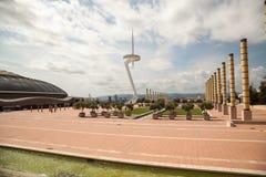 Parque olímpico Montjuic, Barcelona, Espanha Fotografia de Stock