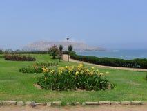 Parque ornamental en el distrito de Barranco, Lima, Perú Fotos de archivo libres de regalías