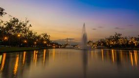 Parque público Bangkok, Tailandia de Suan Luang Rama IX Fotografía de archivo