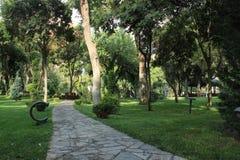 Parque público en Baku Foto de archivo