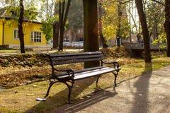 Parque público en el otoño - Vrnjacka Banja, Serbia imagenes de archivo