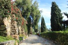 Parque público en Málaga Fotografía de archivo libre de regalías