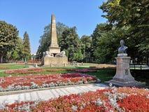 Parque público hermoso de la ciudad de Iasi, Rumania foto de archivo libre de regalías