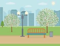 Parque público na cidade Imagens de Stock Royalty Free
