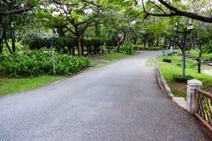 Parque público o jardín para el uso del fondo Imagen de archivo libre de regalías