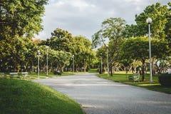 Parque público para la relajación en Tailandia Imágenes de archivo libres de regalías