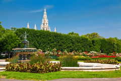 Parque público Volksgarten imagem de stock
