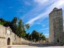 Parque público Zadar Croacia de la torre Imagenes de archivo