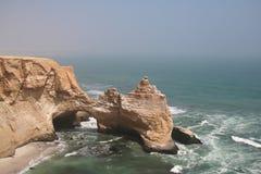 Parque Paracas do mar em Peru fotos de stock
