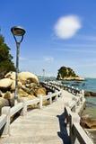 Parque pelo mar Fotografia de Stock Royalty Free