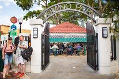 Parque pequeña Havana Miami del dominó Foto de archivo