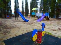parque Pequeno-viajado da aventura fotografia de stock royalty free