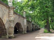 Parque perto de Catherine Palace Imagem de Stock Royalty Free
