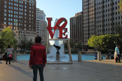 Parque Philadelphfia do amor Imagem de Stock Royalty Free