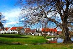 Parque pitoresco e distrito residencial Imagem de Stock