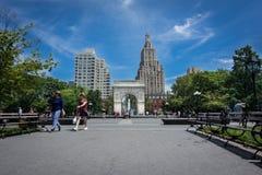Parque quadrado de Washington, NYC imagens de stock