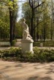 Parque real de Lazienki (banho) Marco vertical fotografia de stock