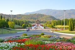Parque real Rajapruek, Chiangmai, Tailândia Imagens de Stock Royalty Free