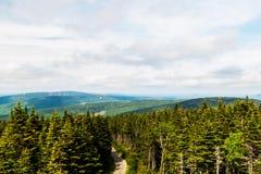 Parque regional: Massif Du Sud, Quebec, Canadá imagen de archivo libre de regalías