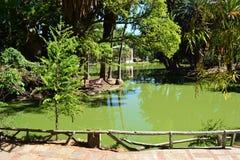 Parque Rodo, Montevideo. Small lagoon in the Rodo park, Montevideo, Uruguay Royalty Free Stock Photography