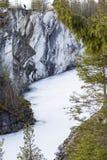 Parque Ruskeala da montanha Fotografia de Stock Royalty Free