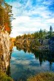 Parque Ruskeala de la montaña Imágenes de archivo libres de regalías