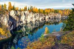 Parque Ruskeala de la montaña Foto de archivo libre de regalías
