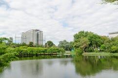 Parque sano en el estadio del ratchamangkala Fotografía de archivo