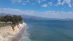 Parque Santa Barbara Pan da linha costeira video estoque