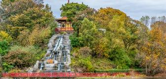 Parque Scarborough de Peasholm foto de archivo libre de regalías