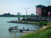 Parque Schouwburg en Hoorn, Holanda, los Países Bajos imagen de archivo