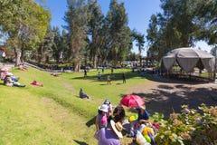 Parque Selva Alegre Arequipa da área do abrandamento foto de stock