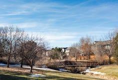 Parque suburbano Imagen de archivo
