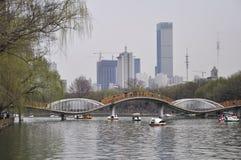 Parque sul do lago Shenyang Imagem de Stock Royalty Free